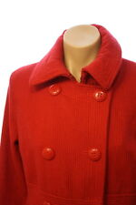 Sarah Jessica Parker Bitten Red Long Dress Jacket Button down Coat Size Medium