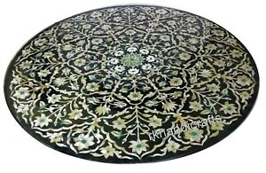 Mother of Pearl Floral Art Kitchen Table Top Marble Coffee Table Top 30 Inches