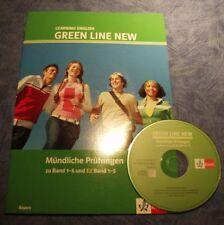 Green Line New Mündliche Prüfungen Bayern Band 1-6, E2 1,2,3,4,5 Lehrerbuch CD