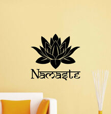 Namaste Wall Decal Lotus Flower Yoga Indian Mandala Vinyl Sticker Art Decor 403