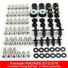 Complete Fairing Bolt Kit Body Screws For 2012-2016 Kawasaki Ninja650 ER-6F 2015
