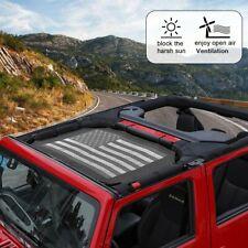 Mesh Sunshade Top Cover Provides UV Protection for Jeep Wrangler JK JKU 2 Door