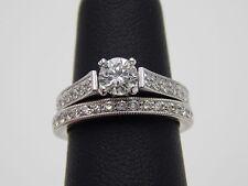 Scott Kay 1.13 tcw Round Diamond Wedding Set G/VS Ex Cut 14k Engagement Ret $7k