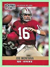 1990 Pro Set Football JOE MONTANA QB 49ers #293 NM.