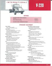 Truck Brochure - IH International - V-220 - Tractor - c1965 (T2677)