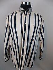 Vintage tommy Hilfiger Striped Blue White Mens Shirt Size Large 90s