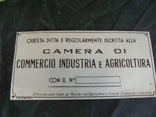 INSEGNA TARGA CARTELLO CAMERA DI COMMERCIO PER ALIMENTARI VINERIE BAR OLD SIGN