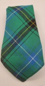 RRL RALPH LAUREN DOUBLE RL Vintage Wool Plaid Necktie green blue &yellow NWT.