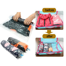 Vacuum Seal Waterproof Clothes Storage Bags Packing Travel Organizer Pouch Bag