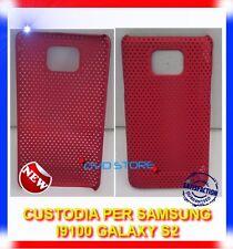 Custodia + Pellicola MESH ROSSA per Samsung I9100 galaxy s2 plus I9105