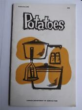 POTATOES COOKBOOK DEPARTMENT OF AGRICULTURE CANADA VINTAGE 1966 RECIPES FACTS