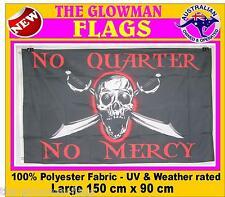 pirate flag pirates flag No Quarter No mercy flag PLUS FREE STICKER GRAPHIC