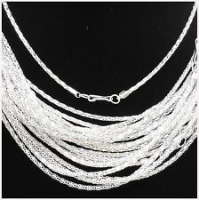 """Chain Necklace With Clasp, 16.5 """" Free shipping 20Pcs Silver Plated Hollow Snake"""