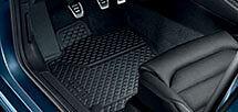 Volkswagen Golf A7-5G Front Rubber Floor Mats Black Mk7 GENUINE NEW