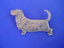 Basset Hound Pin Standing #61A Pewter Dog Jewelry b Cindy A. Conter Scenthound