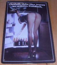 DESHALB STEHT BIER im KÜHLSCHRANK....BLECHSCHILD 20 x 30 PRÄGUNG NEU !