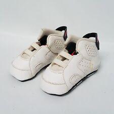 Air Jordan 6 Retro Infants Basketball Shoes White/-Black 525442-123 Sz 2C