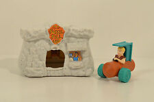 "1993 Barney Fossil Fill-Up 3.25"" McDonald's Action Figure Playset Flintstones"