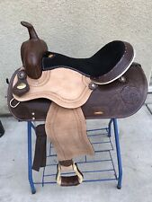 "16"" West Coast Leather Rough Out Western Please Trail Saddle"