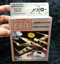 STAR WARS RETURN OF THE JEDI  X WING FIGHTER  MIRROR MODELS KIT 1984 VINTAGE