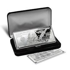 2017 - 4 oz.999 Fine Silver Bar - Proof $100 Franklin Bill - in Case with COA