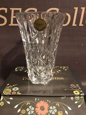 Vintage Avon Crystal Bud Vase 24% Lead Crystal, Made in France 1987, In Box *