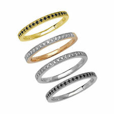 Wedding Eternity White Gold SI2 Fine Diamond Rings