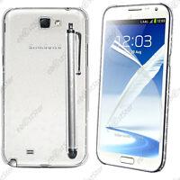 Housse Etui Coque Rigide Gouttelettes Blanc Samsung Galaxy Note 2 N7100 + Stylet