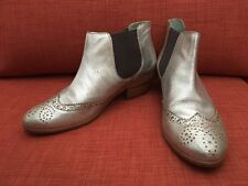 Boden Silver Chelsea Boots Size 9.5