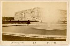 France, Versailles, parc de Versailles, le parterre d'eau  vintage albumen