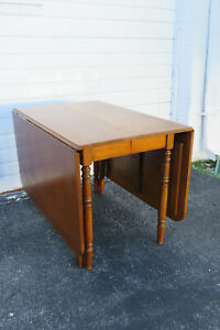 Hard Rock Maple Drop Leaf Folding Dining Extension Table 1479