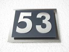 Hausnummer Edelstahl Schwarz oder Anthrazit Design Verona 2-stellig V2A