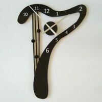 Geometric Mirror Wall Clocks Durable Needle Watch Quartz Clock Home Decors Tools