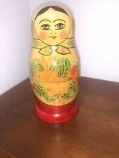 Vintage Ussr Russian Nesting Doll Matryoska Beautiful Design Nr