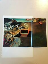 """1976 Vintage SALVADOR DALI """"INVENTIONS OF THE MONSTERS"""" COLOR Print Lithograph"""