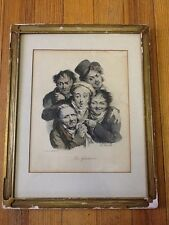 The Grimaces (Les Grimaces), 19th C. Print by Louis Léopold Boilly (French,1823)
