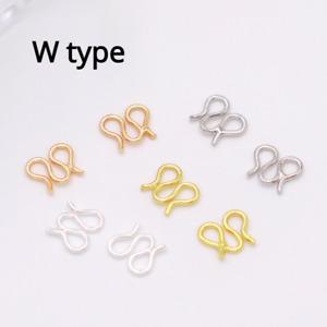 20pcs W Connection Clasp S Closing Buckle DIY Bracelet Necklace Material Tools