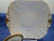 SHELLEY  DAINTY  REGENCY  CAKE AND / OR SANDWICH PLATE   GOLD TRIM