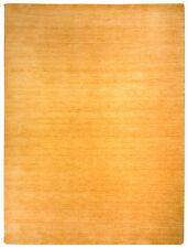 haute qualité Tapis Gabbeh env. 60 40cm or fait main laine
