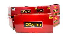 Zen Premade Cigarette Tubes Full Flavor 100mm 5 Boxes (1250ct)
