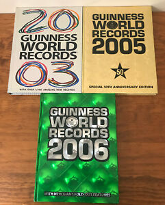 Guinness World Records Books X 3 ( 2003, 2005, 2006 )