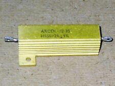 Radio/Electronic/Electrical.  Arcol Aluminium Clad Resistor. 2 Ohm   NOS.