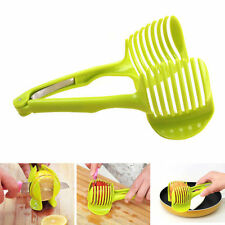 Green Potato Food Tomato Onion Lemon Vegetable Fruit Slicer  Peel Cutter Holder
