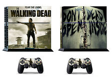 Walking Dead 398 Skin Sticker for Sony PS4 PlayStation 4 and 2 controller skins