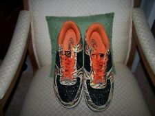 Kashi Kicks Men's Sneakers Size 13 Orange with Tiger Print Glitter Stars