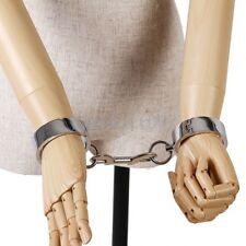 Steel Metal Wrist Restraints Cuffs Handcuffs 5.5 cm /Magnetic Locking Pin Woman