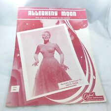 Sheet Music 1956 Allegheny Moon by Patti Page For Ukulele