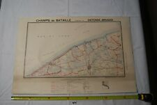 AF1 Carte - Champs de Bataille - Ed Perin - OSTENDE BRUGGES - WW1 WW2 Planche 18