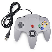 Brand New Wired Nintendo 64 N64 Style USB Controller For PC/Mac Gray US Shipping