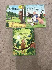 Julia Donaldson/ Axel Scheffler 3 Books Gruffalo, Monkey Puzzle Squash + Squeeze